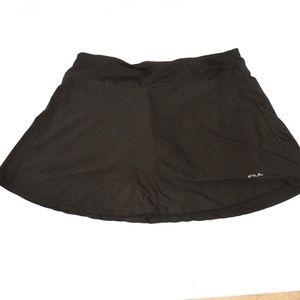 FILA Black Mini Skirt Skort Tennis Sport Large